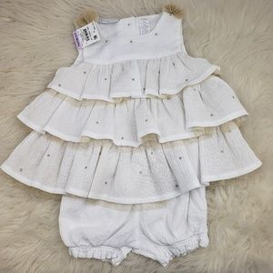 First Impressions Baby Girl 2-Piece Set 6-9m